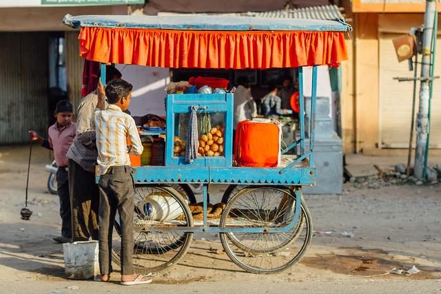 Pani Poori Vendor, Uttar PRadesh India