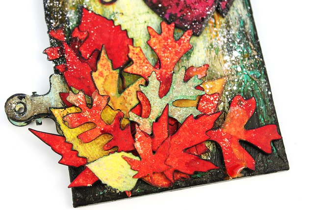 Meihsia Liu Simply Paper Crafts Mixed Media Tag Thank You Fall Thanksgiving Simon Says Stamp Tim Holtz 5