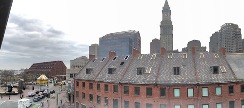 View of Boston from Dock Square parking garage