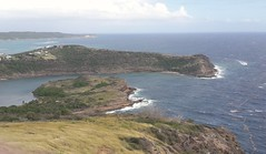 Eric Clapton's House Standfast Point from the Blockhouse, Shirley Heights. Antigua, Antigua and Barbuda