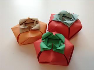 persimmon-shaped box