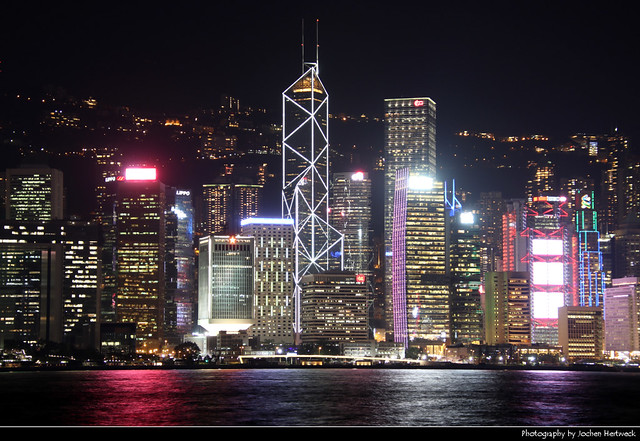 Hong Kong Island seen from Tsim Sha Tsui, Hong Kong, China