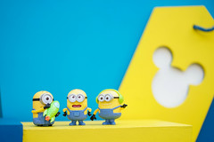 Bangkok, Thailand - Dec 5, 2018 : A photo of a group of minions, characters from Despicable Me (2010) with selective focus on the middle minions. These minions are plastic toys from McDonalds' happy meal.