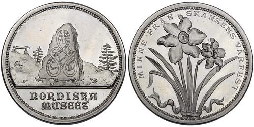 Stockholm aluminum Medal.