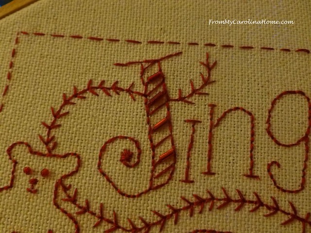 Redwork Christmas Project at FromMyCarolinaHome.com