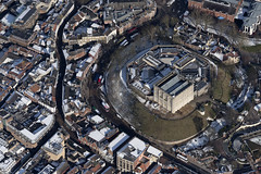 Aerial of Norwich in the snow