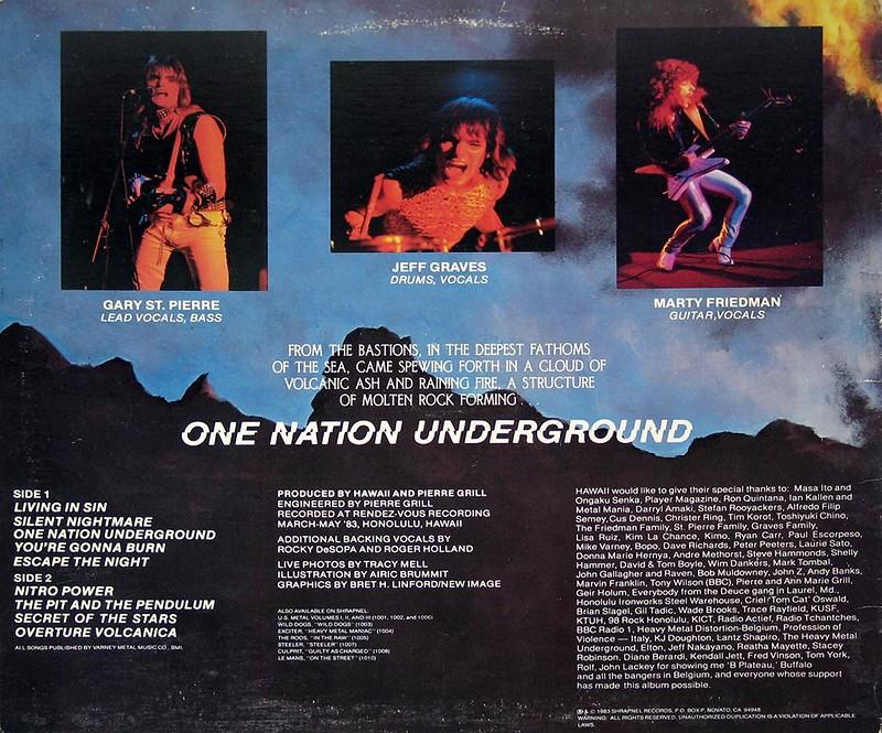 """HAWAII - ONE NATION UNDERGROUND SHRAPNEL  Marty Friedman 12"""" Vinyl LP"""