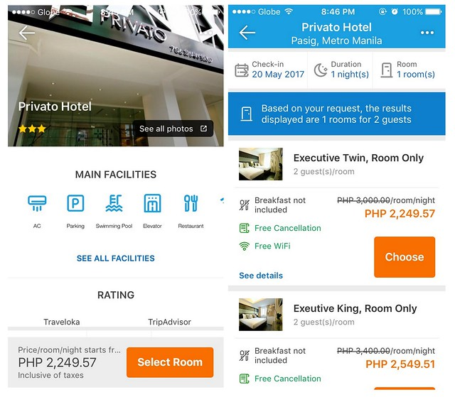 Traveloka App Select Hotel
