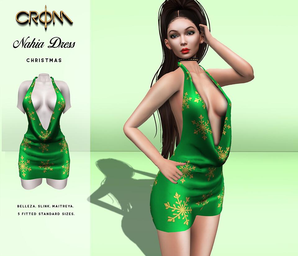 -CroM- Nahia Dress – Christmas HUNT
