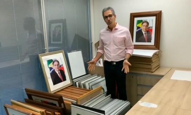 Dica para Helder: MG vai acabar com fotografia de governador em prédios públicos, Zema, governador de MG