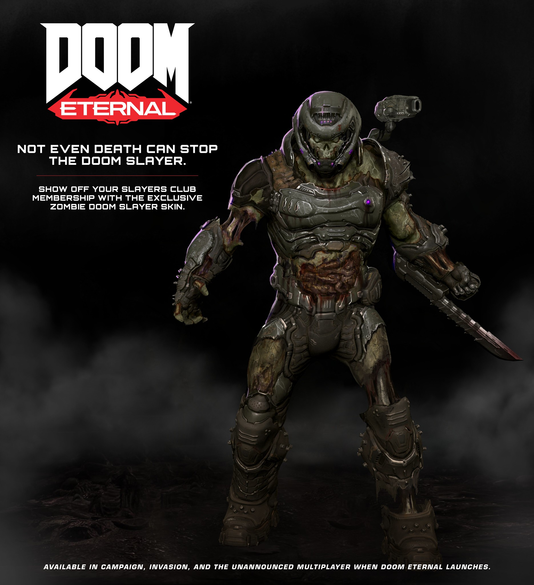 exclusive Zombie DOOM Slayer skin