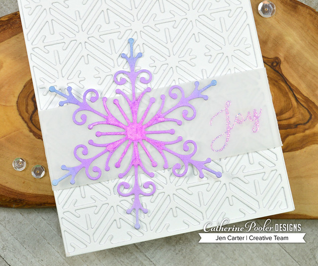 Jen Carter Delicate Snowflake Geometric Peaceful Flakes Closeup