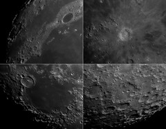 4 Lunar Features in Infrared
