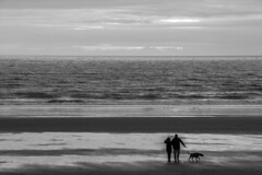 Looking out to sea or looking for an adventure: Aberavon beach, Port Talbot, south Wales