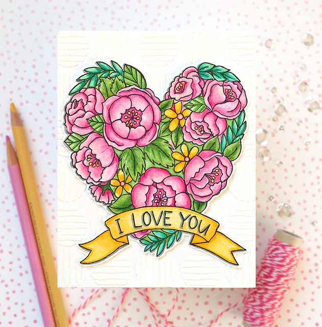 Valentine's Day Watercolor Card 1