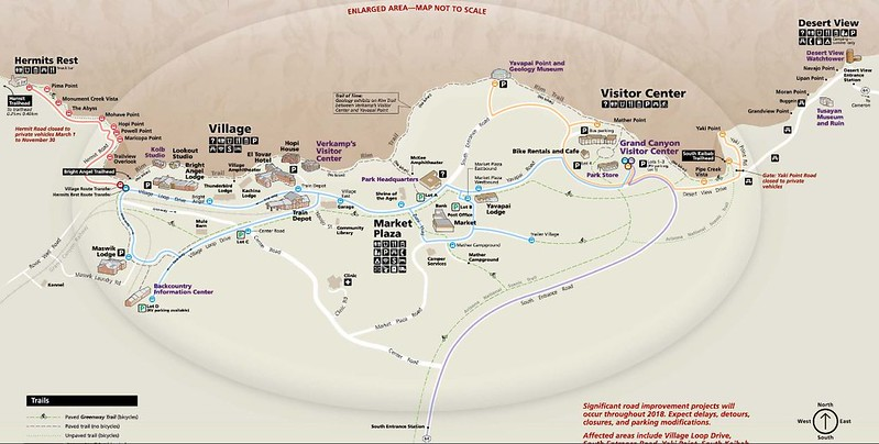 Grand Canyon South Rim Map (from NPS)
