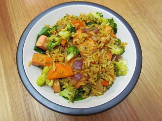 Curried Pork Fried Rice