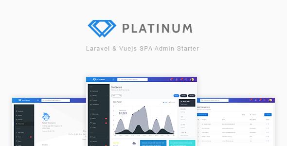 Platinum – Laravel & Vuejs SPA Admin Starter