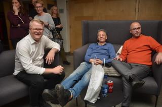 Alexander, Hans och Jan slappar