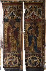 rood screen (south): St Paul and St John (15th Century)