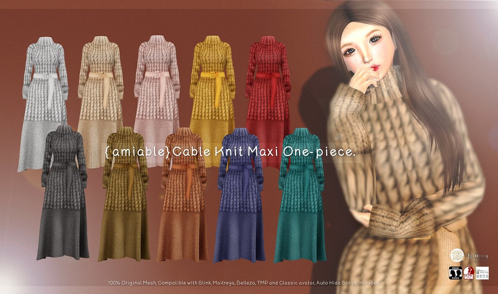 {amiable}Cable Knit Maxi One-piece@ N°21 21th Oct(50%OFF SALE).