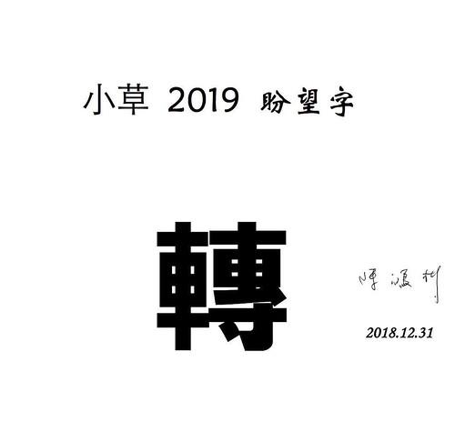 小彬老師幫我把我說的 2018 代表字做成圖,還贊助祝福一枚XD