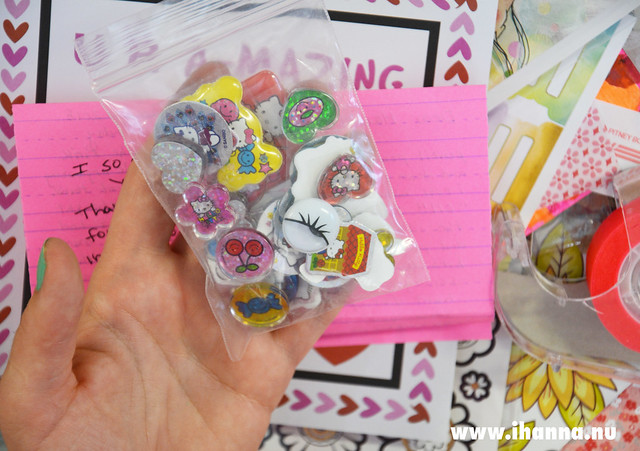 Pink Happy Mail with 3D-stickers