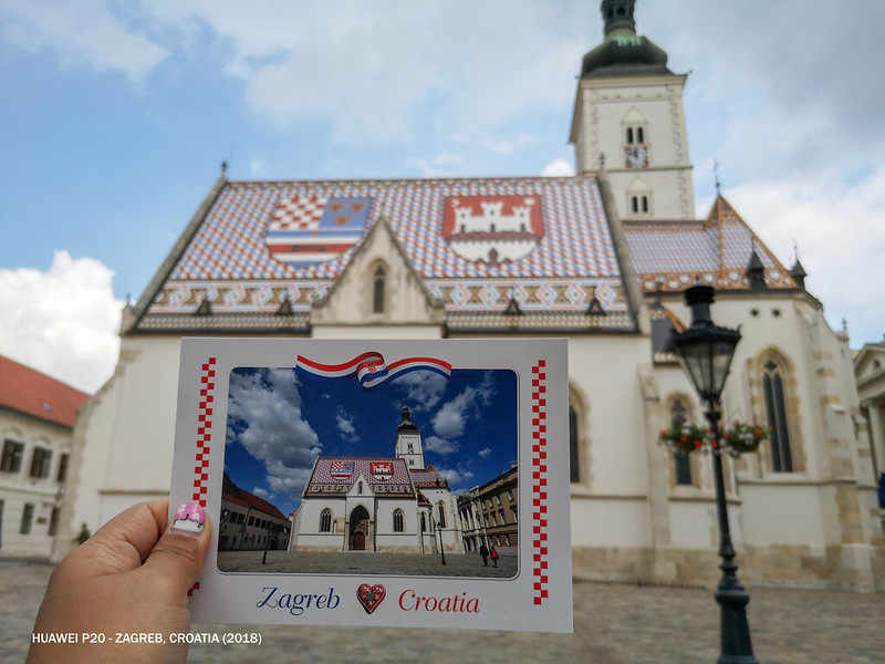 2018 Croatia Zagreb St. Mark's Church 1