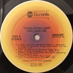 CARL CARLTON:EVERLASTING LOVE(LABEL SIDE-B)
