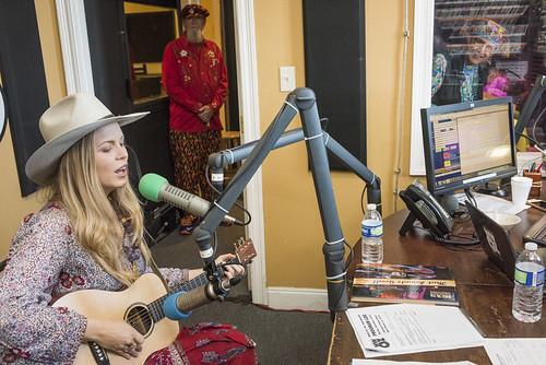 Kristin Diable at WWOZ's 38th birthday celebration - 12.4.18. Photo by Ryan Hodgson-Rigsbee rhrphoto.com.