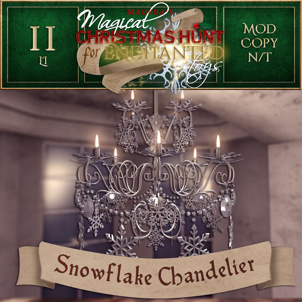 Snowflake Chandelier MadPea Christmas Hunt