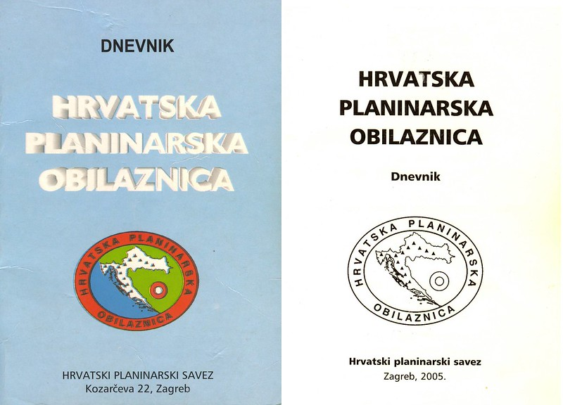 Croatian Hiking Trail Log & Passport Book, CROATIA, 2006-2018