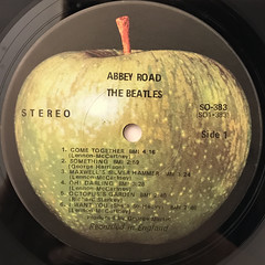 THE BEATLES:ABBEY ROAD(LABEL SIDE-A)