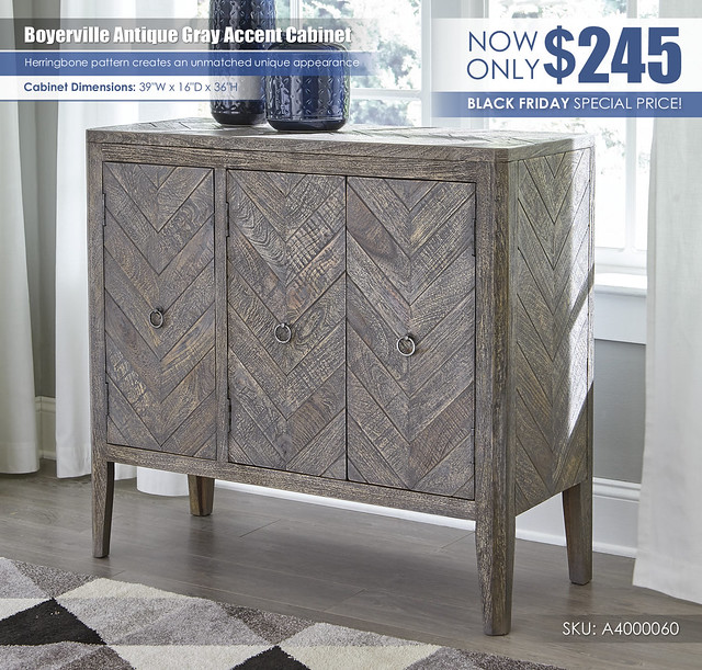 Boyerville Antique Gray Accent Cabinet Special_A4000060