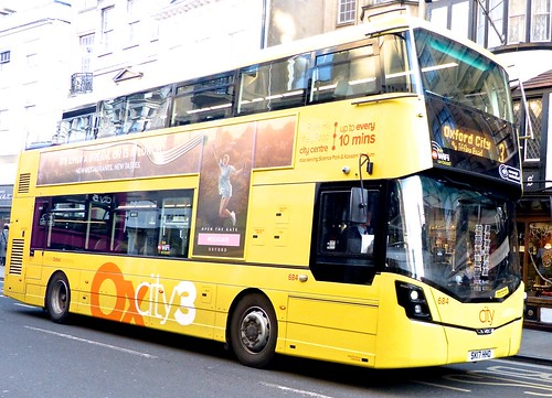 SK17 HHO 'Oxford Bus Company' No. 684 'Oxcity3'. Wright Streetdeck /2 on Dennis Basford's railsroadsrunways.blogspot.co.uk'