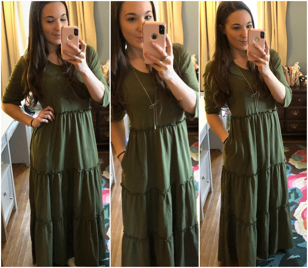 matilda jane tiered green maxi brand new day maxi