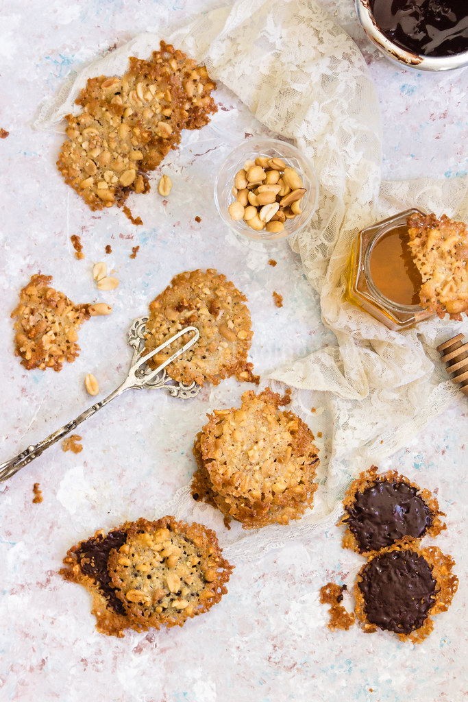 Peanut Lace Cookies