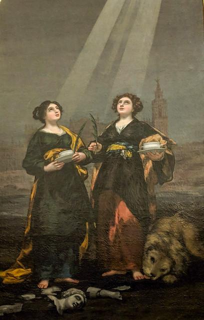 Saints Justa and Rufina by Goya