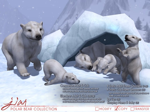 JIAN Polar Bear Collection (FaMESHed Jan '19)