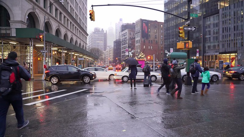 Astor Place Rain  TL Clip 14-010519 HD with music