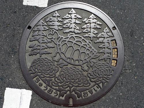 Chuo Okayama, manhole cover 2 (岡山県中央町のマンホール2)
