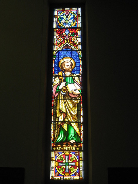 The Saint Peter Stained Glass Window by Ferguson and Urie; Christ Church, Brunswick - Glenlyon Road, Brunswick