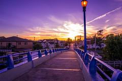 Footbridge Sunset