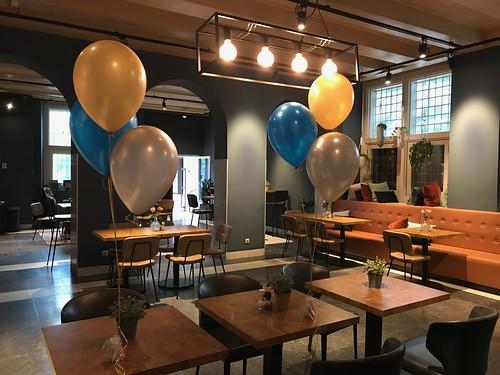 Tafeldecoratie 3ballonnen Schielandshuis Rotterdam