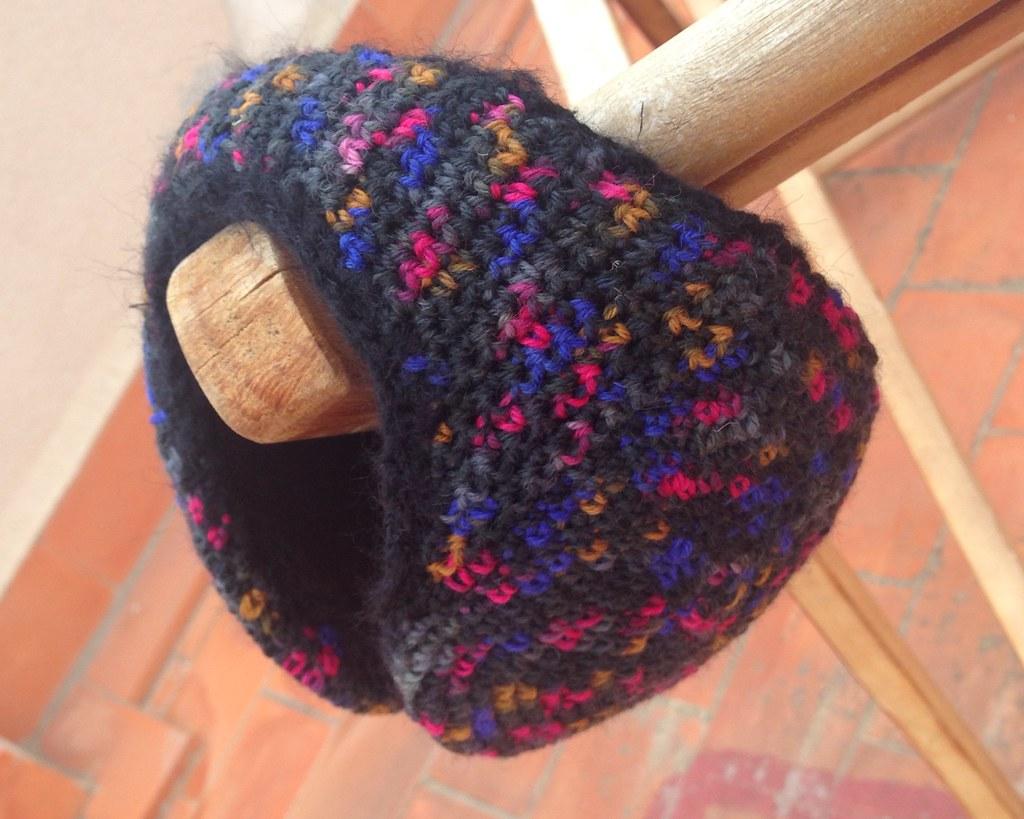 Orejeras tejidas a crochet en lana