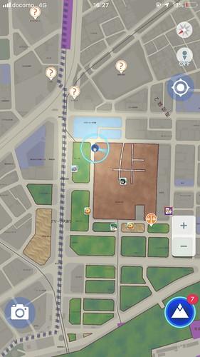 青く光った地図を塗れる