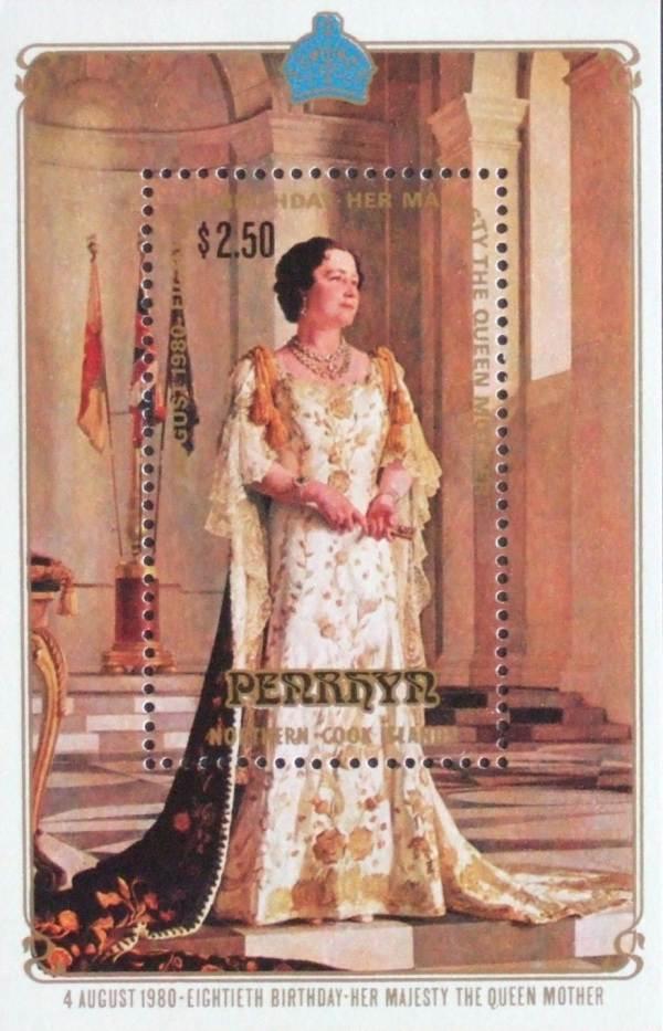 Známky Penrhyn 1980 Kráľovna matka