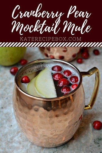 Cranberry Pear Mocktail Mules | by katesrecipebox