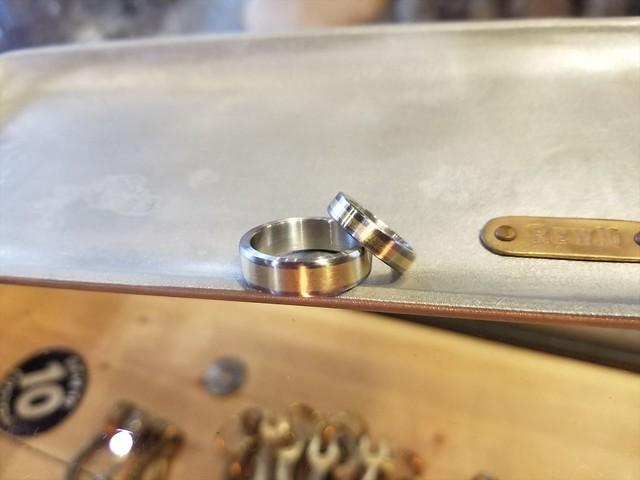 REW10 BRASS x STAINLESS RING
