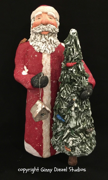 Birdies and Santa, front view